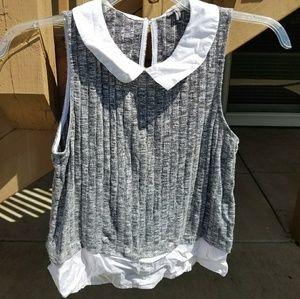 Collared shirt tank top